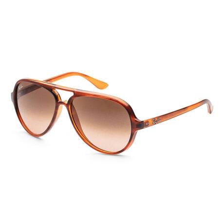 Ray-Ban // Men's RB4125-601-3F Sunglasses // Stripped Havana + Pink Gradient Brown