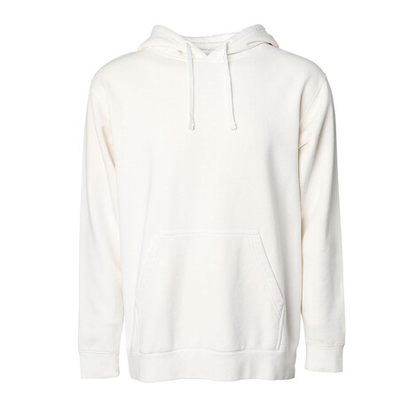 Pigment Dyed Hoodie // White (S)