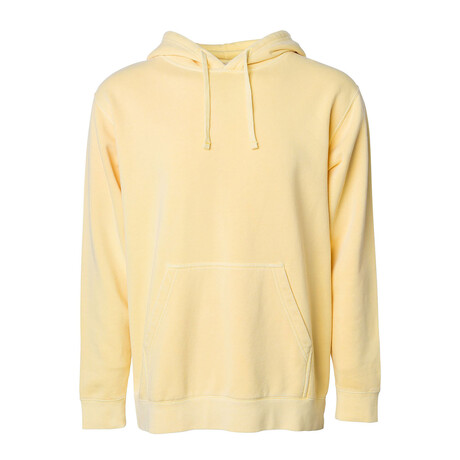 Pigment Dyed Hoodie/ Yellow (S)