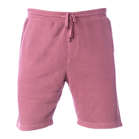Pigment Dyed Shorts // Burgundy (S)
