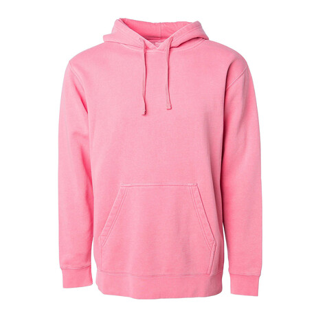 Pigment Dyed Hoodie // Pink (S)
