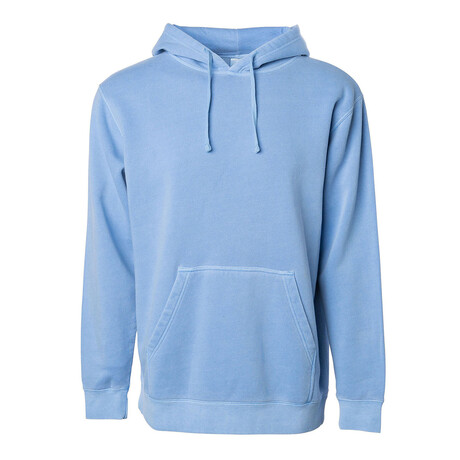 Pigment Dyed Hoodie // Light Blue (S)