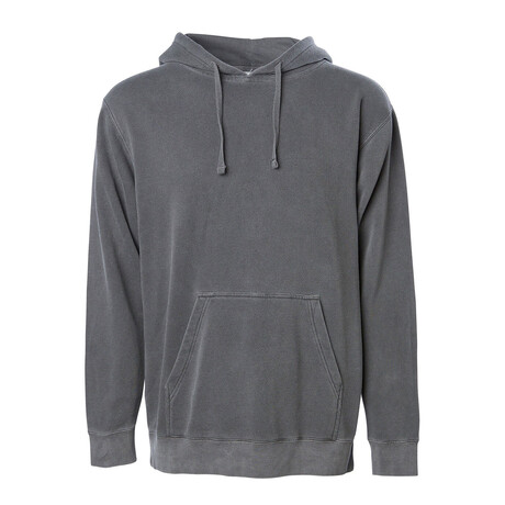 Pigment Dyed Hoodie // Charcoal (S)
