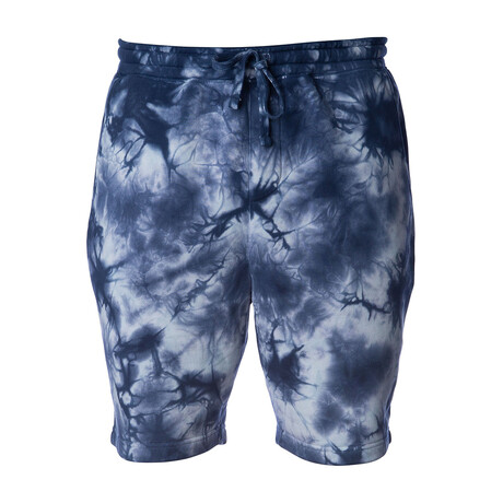 Pigment Dyed Shorts // Tie Dye Navy (S)