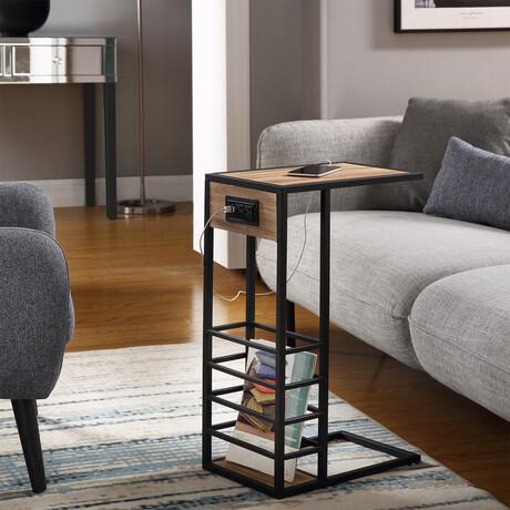 Loft Lyfe // Thatcher C Table (Grey + Black)