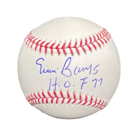 Ernie Banks // Signed Baseball + Inscription // Chicago Cubs