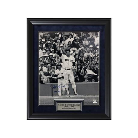 Carl Yastrzemski // Framed + Signed + Inscription // Boston Red Sox