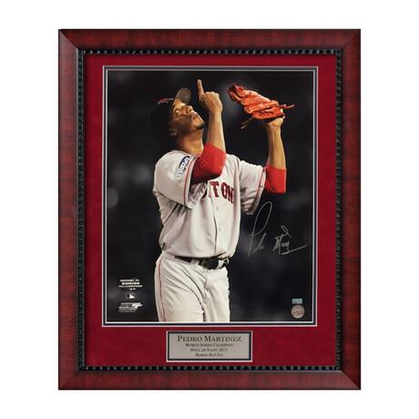 Pedro Martínez // Framed + Signed // Boston Red Sox