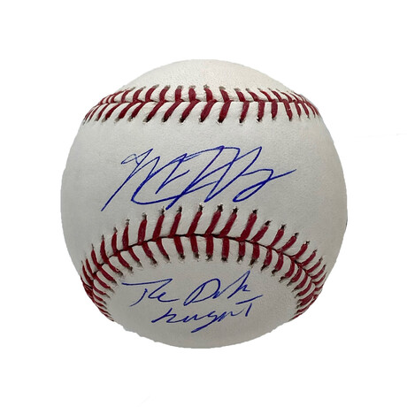 Matt Harvey // Signed Baseball + Inscription // New York Mets