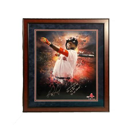 David Ortiz // Framed + Signed + Inscriptions // Boston Red Sox
