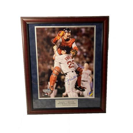 Jason Varitek // Framed + Signed // Boston Red Sox