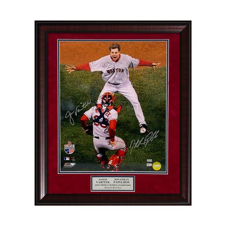 Jonathan Papelbon & Jason Varitek // Framed + Signed // Boston Red Sox