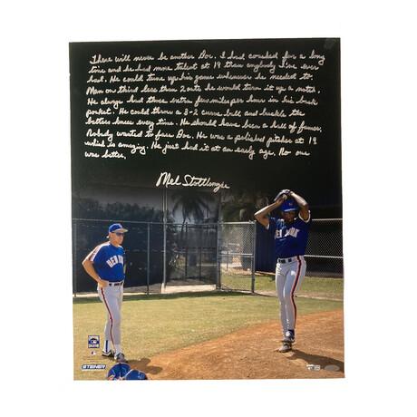 Mel Stottlemyre // Signed + Story Inscription // New York Yankees