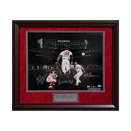 Mookie Betts, Jackie Bradley Jr. & Andrew Benintendi // Framed + Signed // Boston Red Sox
