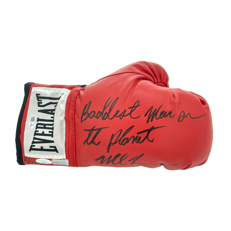 """Mike Tyson // Limited Edition Signed Boxing Glove // """"Baddest Man"""" Inscription"""