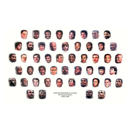 Original NBA 50 Greatest Players NBA Licensed Lithograph