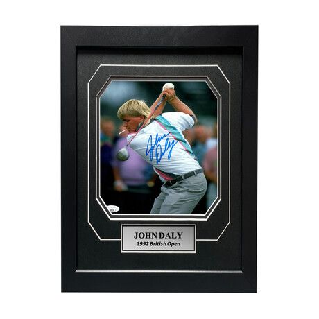 John Daly // Signed + Framed Photo // Cigarette in Mouth