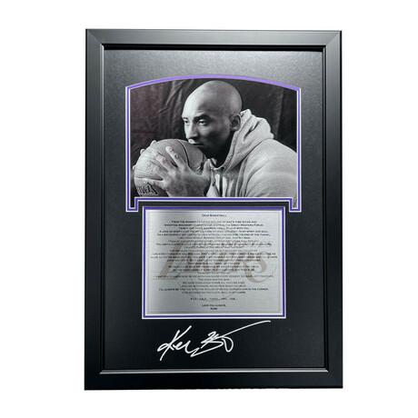 Kobe Bryant // Dear Basketball Framed 3D Photo Collage