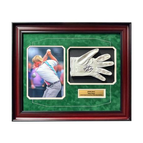 John Daly // Signed + Framed Display // Game Worn Golf Glove