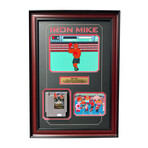 Mike Tyson // Signed + Framed Original Punch-Out NES Video Game Cartridge