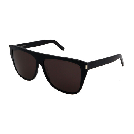 Yves Saint Laurent // Men's SL1SLIM-001 Sunglasses // Black
