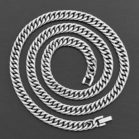 Polished Stainless Steel Curb Chain Necklace // 8mm