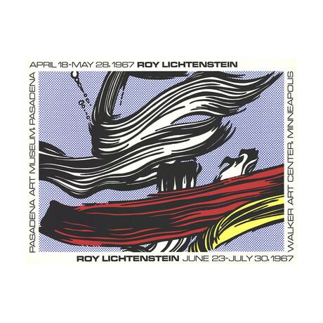 Roy Lichtenstein // Brushstrokes at Pasadena Art Museum // 1967 Serigraph