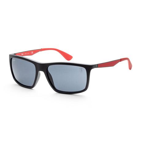 Ray-Ban // Men's RB4201-622-8G-59 Alex Sunglasses // Matte Black + Brown Mirror + Dark Gold