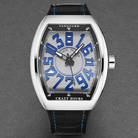 Franck Muller Vanguard Crazy Hours Automatic // 45CHACBRBLSIL // New