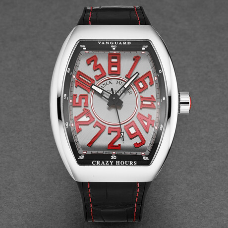 Franck Muller Vanguard Crazy Hours Automatic // 45CHACERSILRED