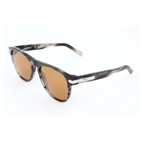 Men's SF916S Sunglasses // Striped Gray