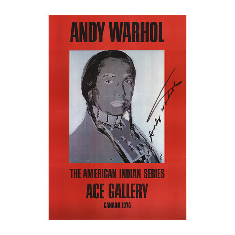 Andy Warhol // American Indian (Red) // 1977 Offset Lithograph // SIGNED