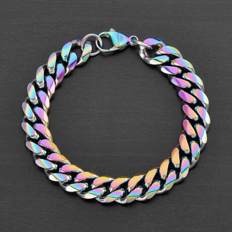 Curb Chain Bracelet // 12mm (White)