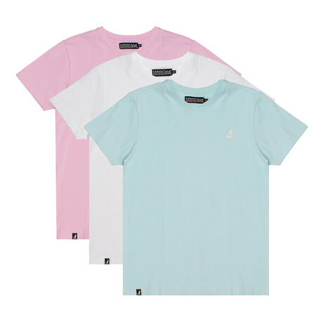 Crew Neck Tee // Pack of 3 // Plume + Brilliant White + Sweet Lilac (S)