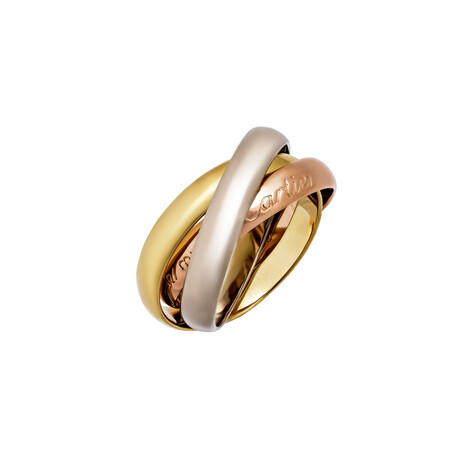 Cartier // 18k Yellow Gold + 18k White Gold + 18k Rose Gold Le Must De Cartier Ring // Ring Size: 6 // Pre-Owned