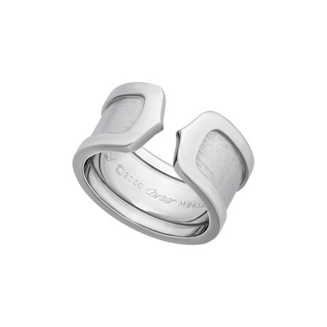 Cartier // 18k White Gold Double-C Ring // Ring Size: 5.25 // Pre-Owned