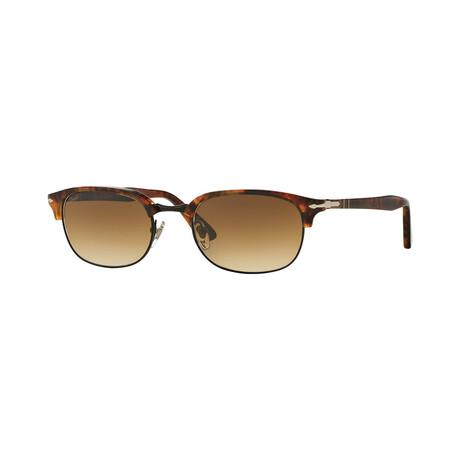 Men's Clubmaster Sunglasses // Havana + Brown Gradient
