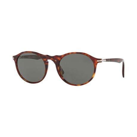 Men's Round Sunglasses // Havana + Gray