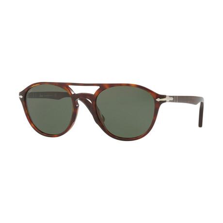 Men's Round Acetate Sunglasses V.I // Havana + Green