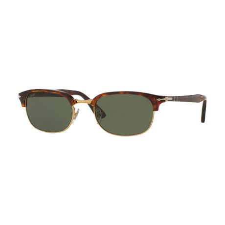 Men's Clubmaster Sunglasses // Havana + Green