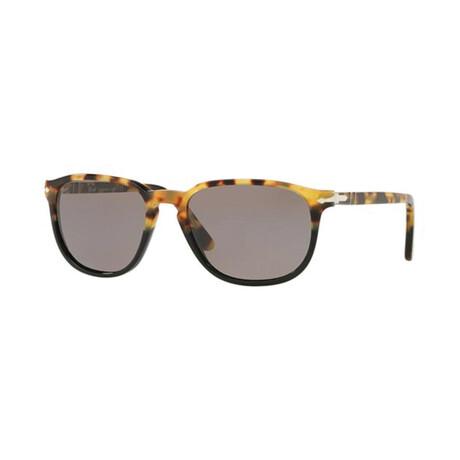 Men's Rectangle Acetate Sunglasses // Tortoise Fade To Black + Gray