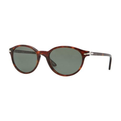 Men's Oval Acetate Sunglasses // Havana + Green