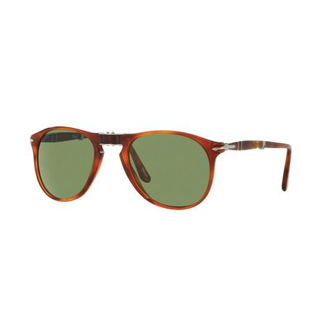 Men's 714 Iconic Folding Sunglasses // Terra Di Siena + Green