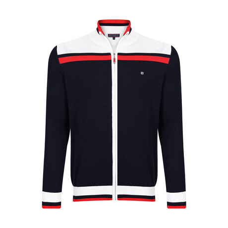 Kris Zip Jacket // Navy (XS)