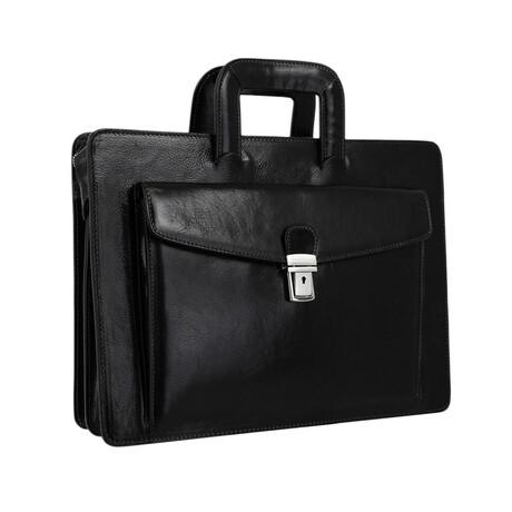 The Tempest // Leather Briefcase (Black)