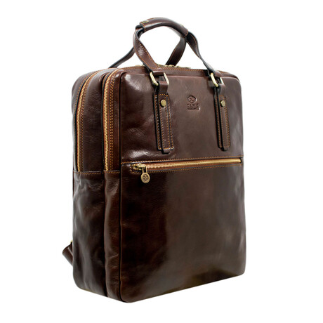 Gone with the Wind // Leather Backpack // Dark Brown