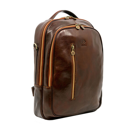 The Overstory // Leather Backpack // Dark Brown