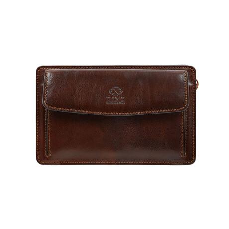 Decameron // Leather Clutch // Dark Brown