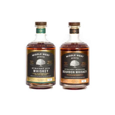 Whiskey Duo // Michelone Reserve Bourbon + Dark Pumpernickel Rye // 750 ml Each