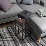 Loft Lyfe // Flye C Table (Gray/Gray)